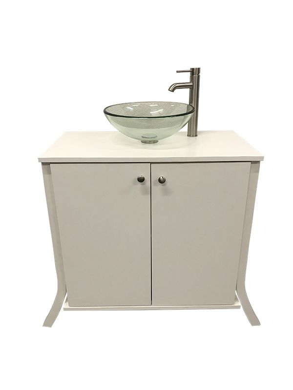 Glass Bowl Sink With Portable Bathroom Vanity In 2020 Portable Sink Glass Bowl Sink Bowl Sink