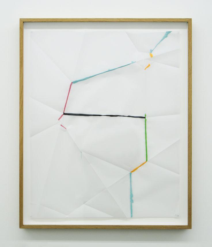 Beat Zoderer - FOLD & DIP No. 2 - 2014 - Acrylic on vellum, 61.5 x 48.5 cm