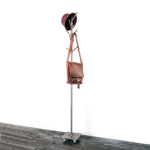 Industrial Vintage Coat Rack FREE SHIPPING by TheWhiteShanty