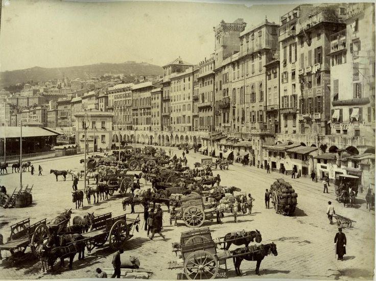 Genova - Piazza Caricamento before 1895