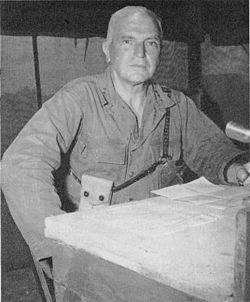 General Simon Bolivar Buckner, Jr. (July 18, 1886 – June 18, 1945)   He was killed during the closing days of the Battle of Okinawa by enemy artillery fire, making him the highest-ranking U.S. military officer to have been killed by enemy fire during World War II