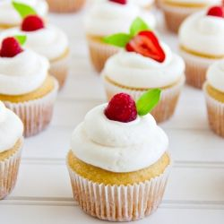 These cupcakes are easy and turn out perfect every time. Light. Fluffy. Delicious.  #foodgawker