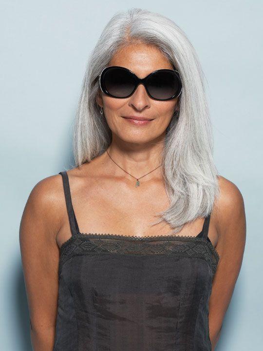 lovely gray hair