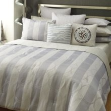 SEAN JOHN 3 PC IBIZA FULL QUEEN SIZE COMFORTER SET W/ SHAMS IN GRAYS $209.99 with free shipping