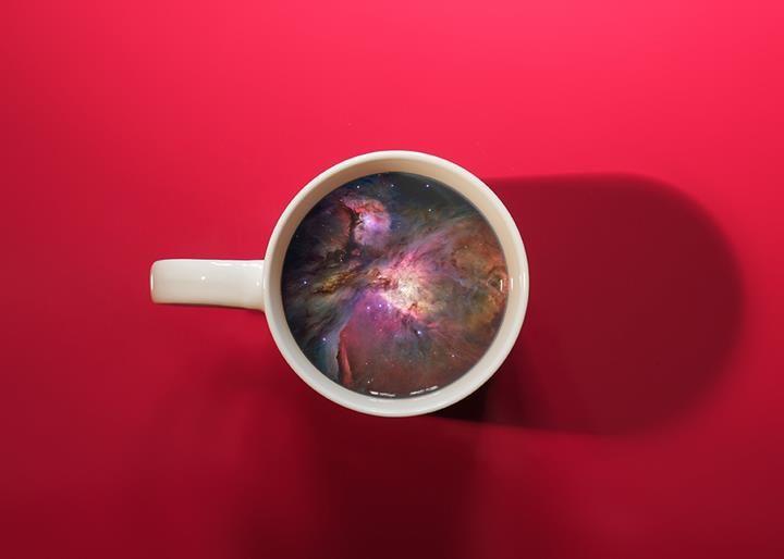 A cup of galaxy #CoffeCupManipulation