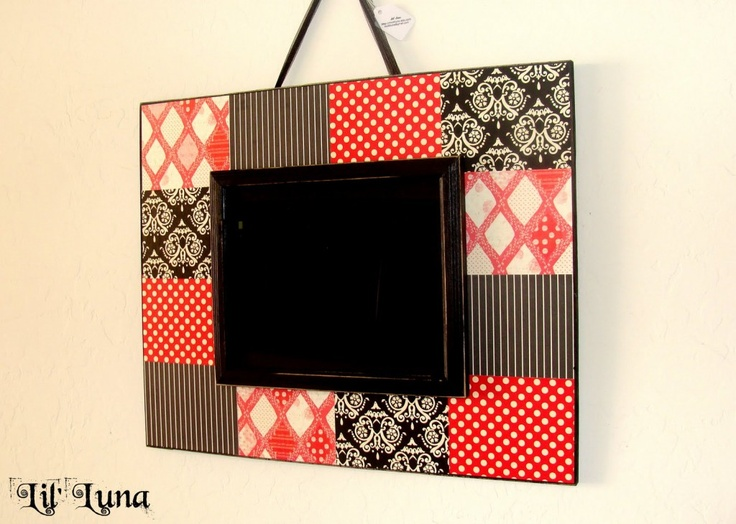 DIY Picture frame (decoupaged with scrapbook paper)