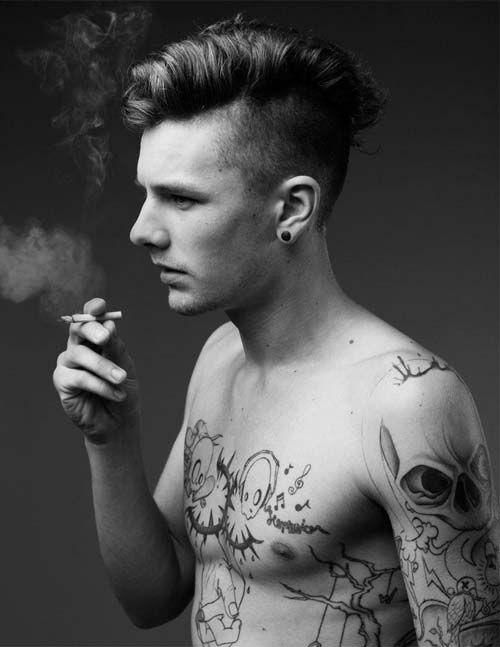 tattooed pierced guys flip fuck