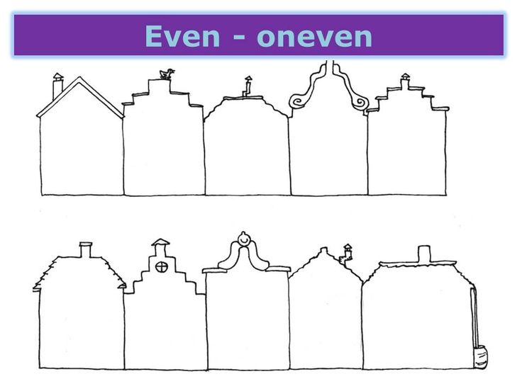 Even-oneven (huisnummers) leeg