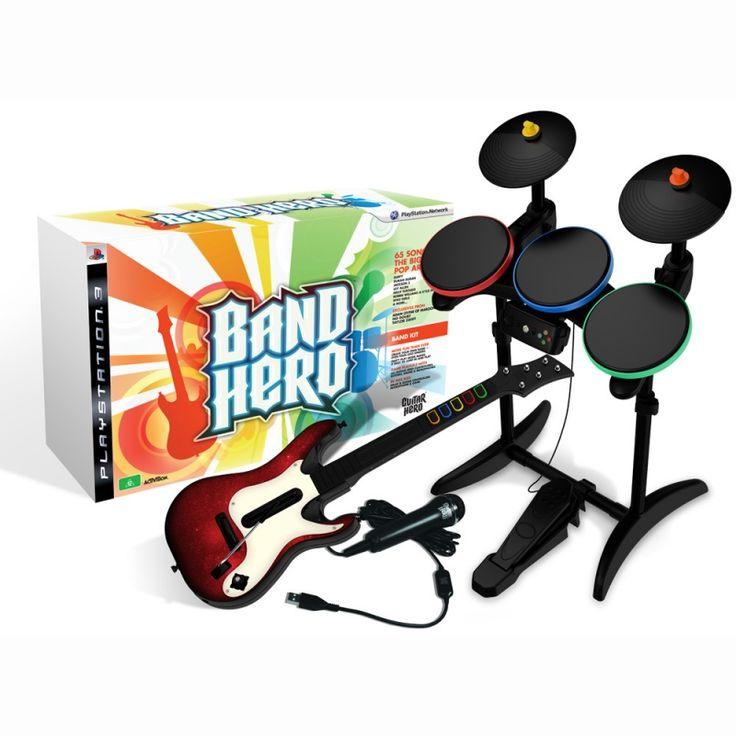 #Location Kit Band Hero pour PS3 : jeu   micro guitare batterie. Exclusivité www.placedelaloc.com ! #consocollab #bandhero