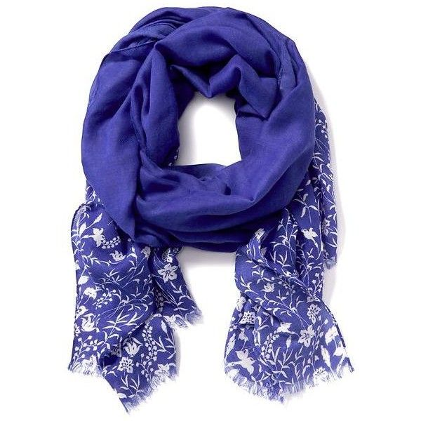 Old Navy Womens Patterned Linear Scarf ($17) ❤ liked on Polyvore featuring accessories, scarves, blue, blue shawl, old navy scarves, old navy, print scarves and patterned scarves