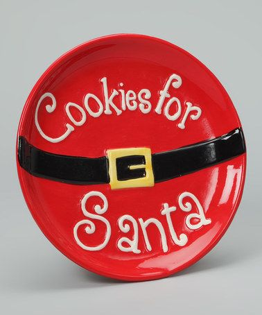 Take a look at this 'Cookies for Santa' Plate by Holly Jolly: Home Décor on #zulily today!