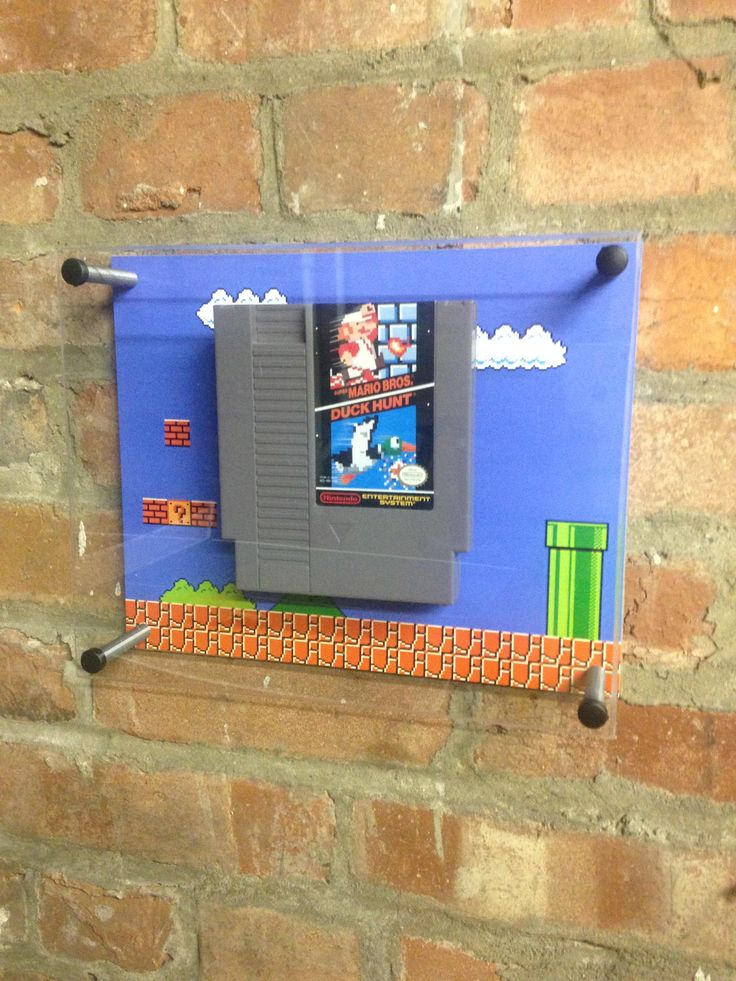 Nicely mounted Super Mario Brothers Cartridges
