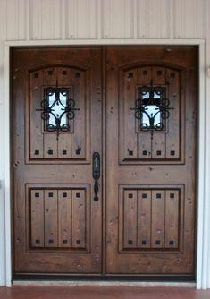 Rustic Wood Doors Knotty Alder Estancia Double Door with Vgroove Panels Florentine Speakeasies & 20 best Rustic Wood Doors images on Pinterest | Rustic wood Wood ...