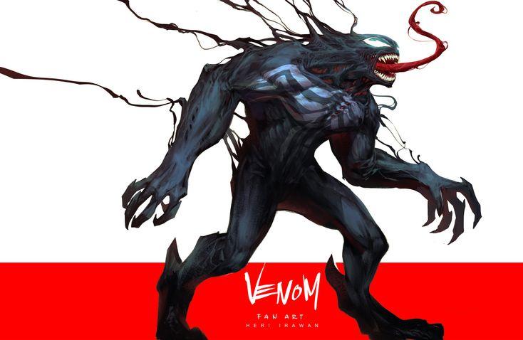 Artstation Venom Or Carnage Heri Irawan Symbiotes Marvel Venom Venom Art