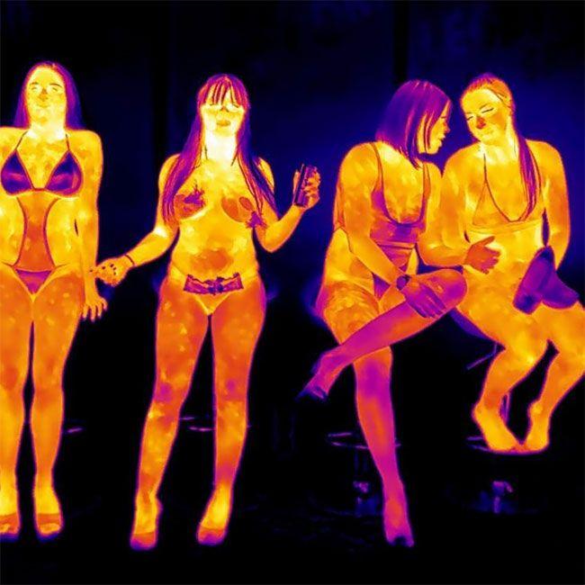 Thermal imaging of naked women