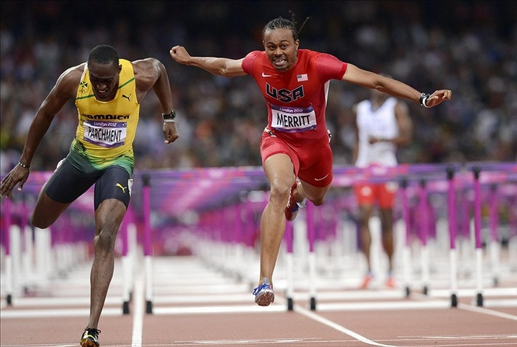 Americans take gold and silver in men's 110m hurdles -  The United States' Aries Merritt, right, defeats Hansle Parchment to win the 110m hurdles. (US Presswire)  For American track connoisseurs, the 110-meter men's hurdles is one of the greatest, proudest events. Going back decades, the U.S. has always had a hand in the decision, or medal outcome, in the race at the Olympics. Consider: including this year's Games, 11 of the past 18 medals in the 110-meter hurdles gone to Americans