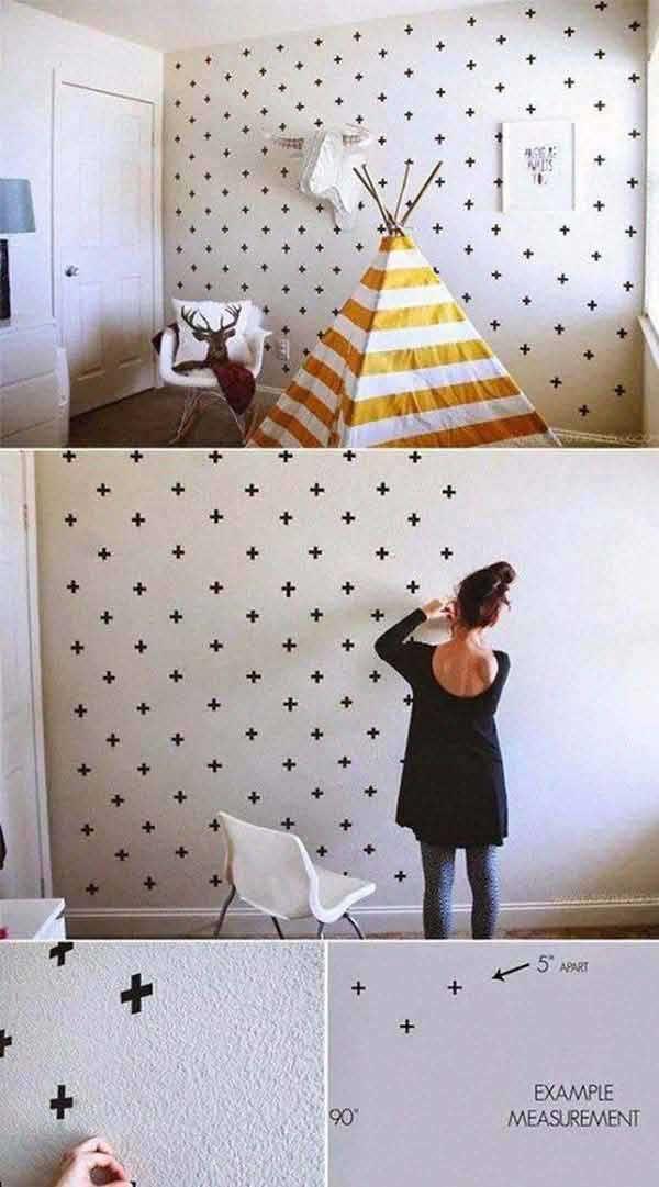 DIY minimal dekorácia z lepiacej pásky