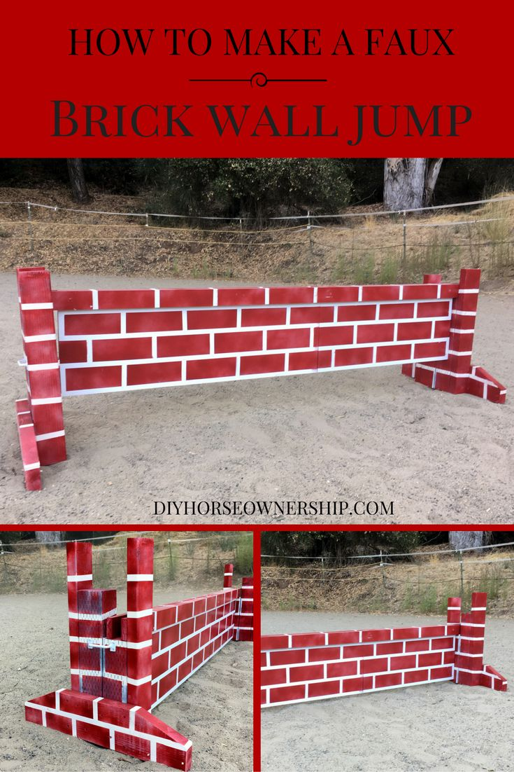 28 best do it yourself horse projects images on pinterest horse diy do it yourself how to make a faux brick wall cross country or stadium horse solutioingenieria Choice Image
