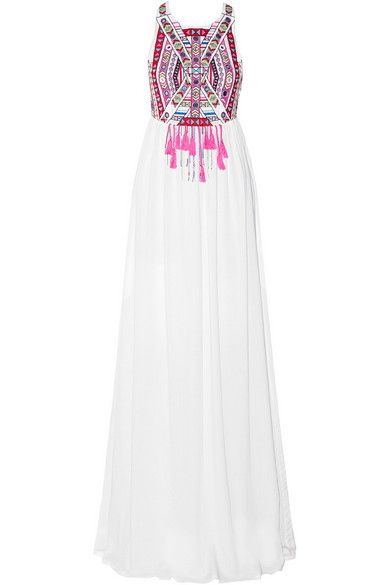 GIMME!! and then let's go on vacation. // mara hoffman white and embroidered maxi dress