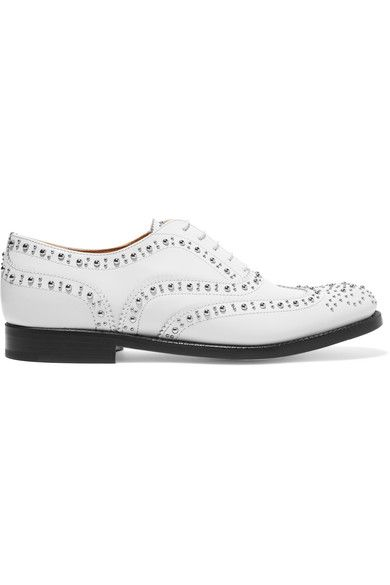 Church's - The Burwood Studded Leather Brogues - White - IT40.5