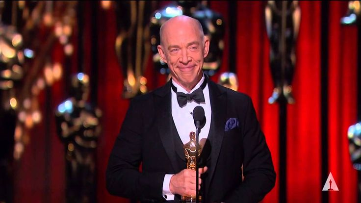 "Lupita Nyong'o presenting J.K. Simmons with the Oscar® for Best Supporting Actor for his performance in ""Whiplash"" at the 87th Oscars® in 2015."