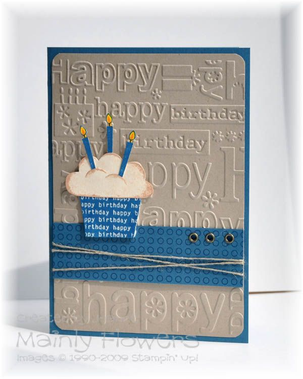 Sweet Embossed Happy Birthday Card...with a cupcake.