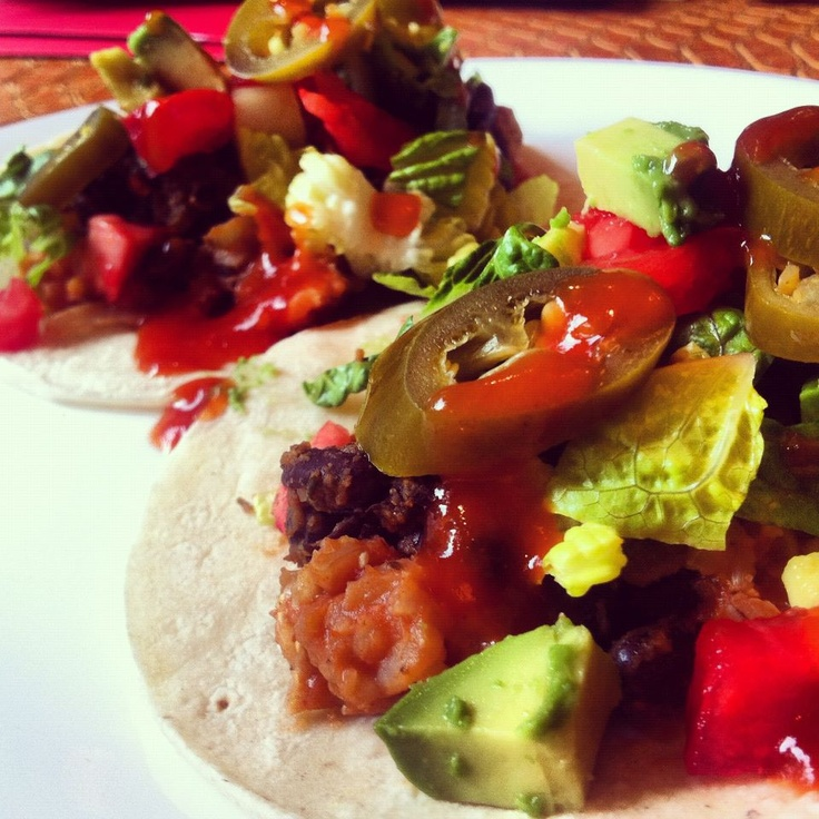 Vegan Black Bean and Brown Rice Tacos   food I've made   Pinterest