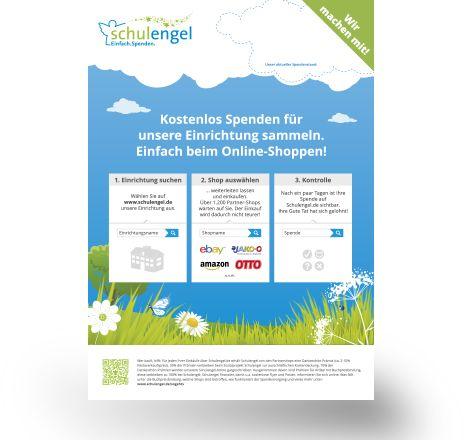 Sie können kostenlose #Schulengel-Flyer bestellen, um die #Fundraising-Idee vor Ort bekannt zu machen.