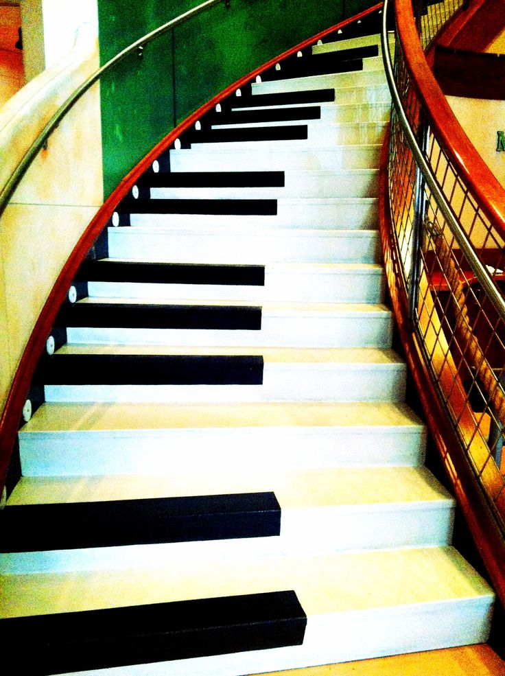 Piano stairs in the Margaritaville downtown Nashville, Tennessee!