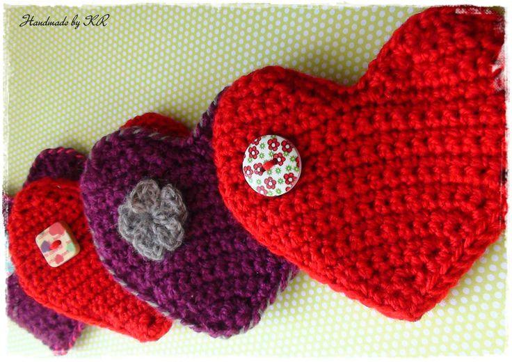 Valentine's crochet coin purse... handmade by KR!!!
