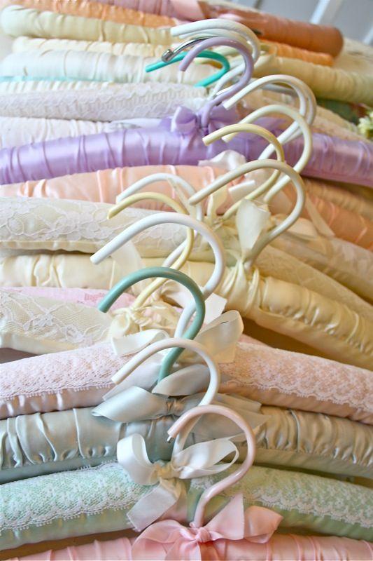 vintage pastel hangers
