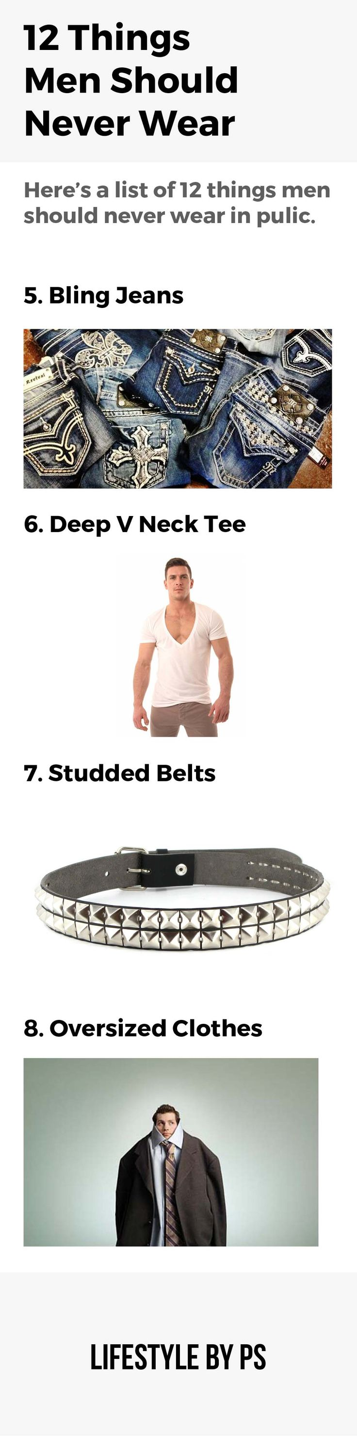 things men should never wear in public
