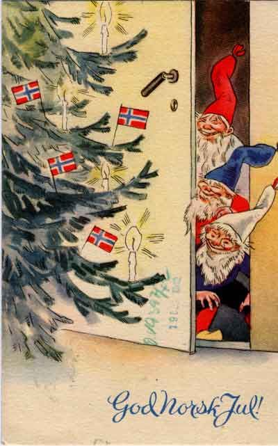 Nordic Thoughts: Vintage Norwegian Christmas postcards my paternal great grandfather was from Norway!