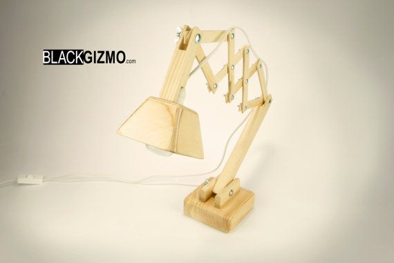 Wooden Table lamp DL011 Free Shipping by blackgizmo on Etsy