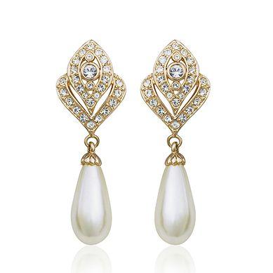 Elegant two tone drop earring