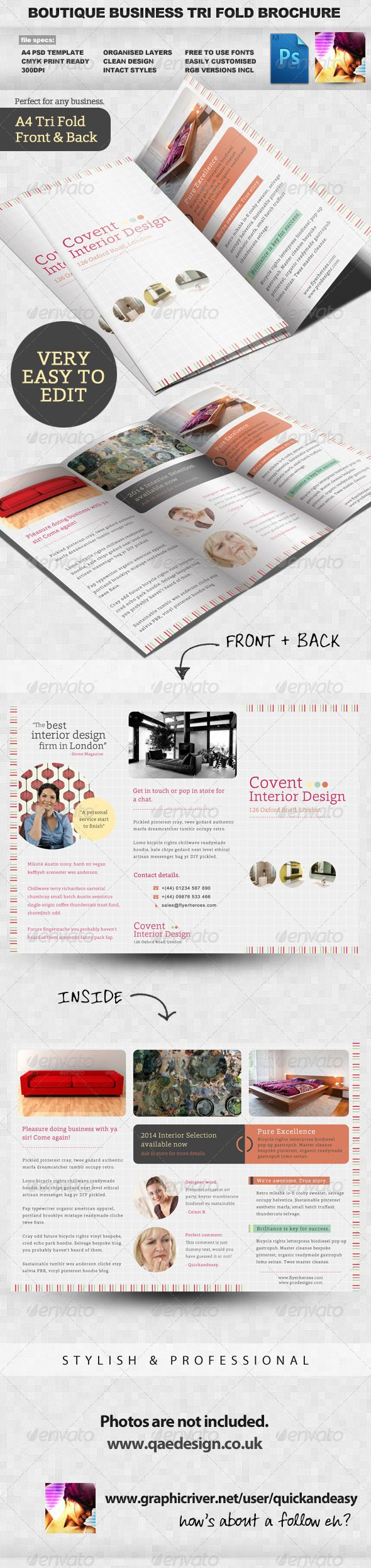 Best TriFold Brochure Ideas Images On Pinterest Brochure - Sales brochure templates