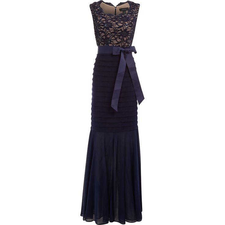 R M Richards Blue Lace Shutter Panel Dress Tk Ma