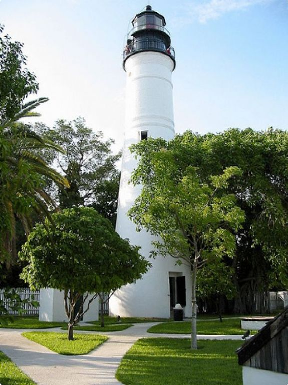 Key West Light House during the day (Key West, Florida). Picture Yourself in Paradise at www.floridanest.com