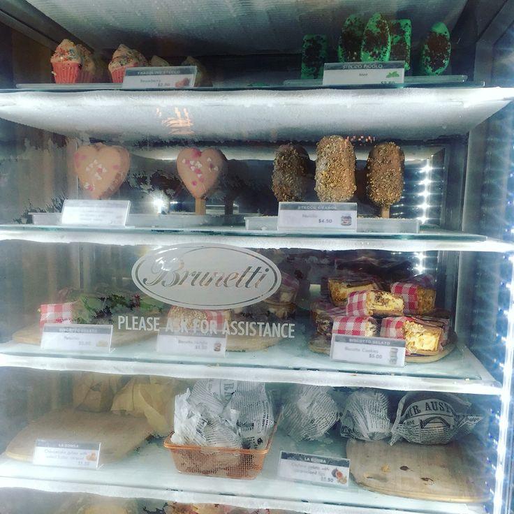 Ice creams at Brunetti on Lygon street