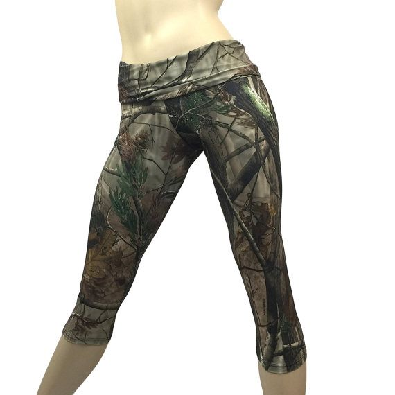 SXYFITNESS- Camo Yoga Pants - HIGH QUALITY WORKOUT CLOTHES HANDMADE IN THE USA  High Quality Designer Fitness Capri pants are available in Low Rise, or Fold Over/ High Waist Pant. Perfect for Hot Yoga or any work out. Functional, with a great fit! Bend, and stretch with ease!  FABRIC:  High Quality Performance Knit, breathable, 4 way stretch, medium weight lycra.  HOW TO WASH:  Hand wash and line dry for best results. Machine wash in Cold, dry on low.  STYLE:  Fold Over/ High Waist ...