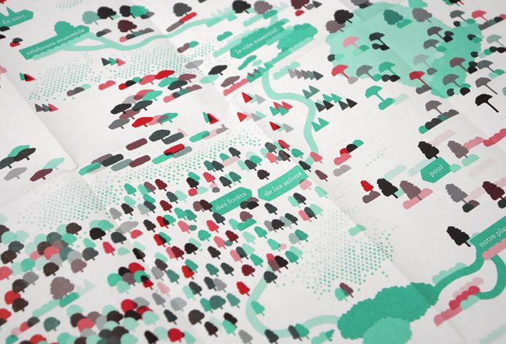 Utillisation multipliée des icônes/effet de trame, pour enrichir une carte Atelier Müesli – Design graphique