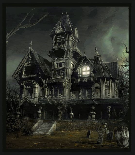 gifs+houses | haunted house animations photo: Haunted House HauntedH.gif