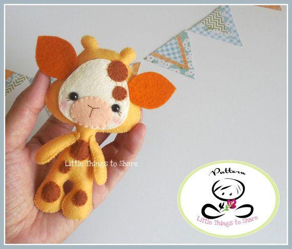 Little Giraffe-PDF pattern-Baby Giraffe-DIY by LittleThingsToShare