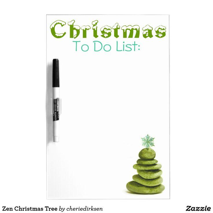 Zen Christmas Tree Dry Erase Board
