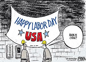 Happy Labor Day USA, Made In China? a funny American Labor Day Cartoon Strip by…
