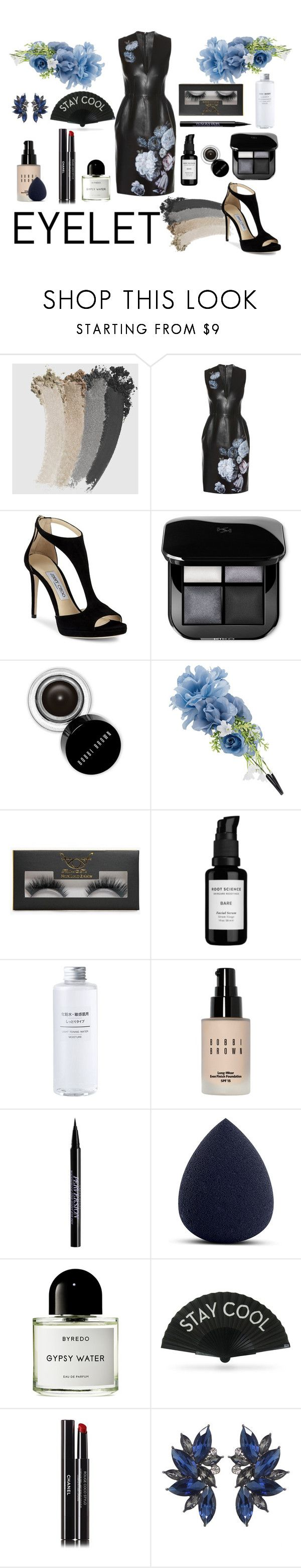 """The eyelet😏 Happy hour✨"" by juliamariemcmahon ❤ liked on Polyvore featuring Gucci, Alexander McQueen, Jimmy Choo, Bobbi Brown Cosmetics, Accessorize, Boohoo, Root Science, Urban Decay, My Makeup Brush Set and Byredo"
