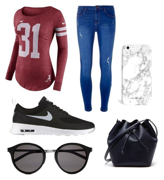 """Day look"" by yasmin-bach-rasmussen on Polyvore featuring NIKE, Dorothy Perkins, Lacoste and Yves Saint Laurent"