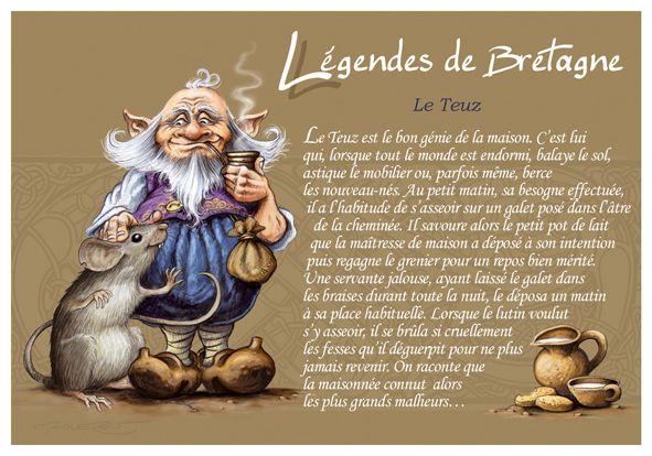 Légendes de Bretagne - Le Teuz, bon génie de la maison