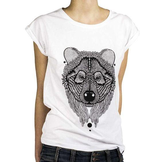 Koszulka Damska Miś - Malinowe Cacko