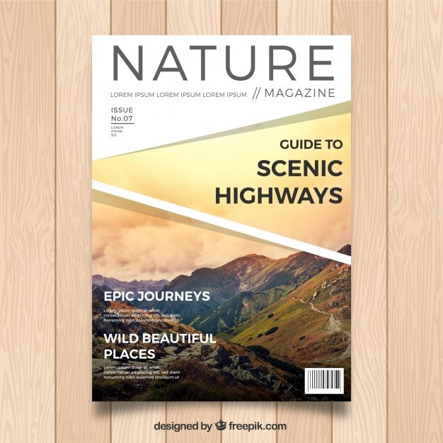 Download Modern Nature Magazine Cover Template With Photo For Free Magazine Cover Template Cover Magazine Cover